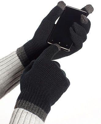 alfani glove knit tech glove mens hats gloves