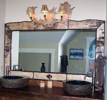 Antler Bathroom Mirrors | Mirrors Rustic, Rustic Furniture, Adirondack  Rustic Furniture, Western .