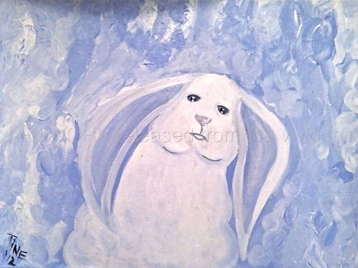 "Contemporary - ""HEAVENLY BUNNY"" (Original Art from KING GALLERIES)"