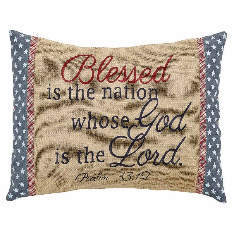 Independence Blessed Pillow Cover 14x18