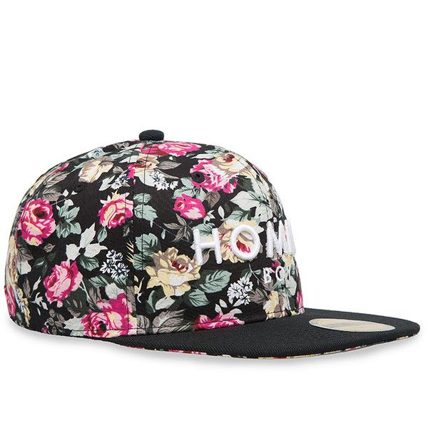 Alex   Chloe Homme Boy Floral Snapback ( 52) ❤ liked on Polyvore featuring  accessories fb52ffca0ac