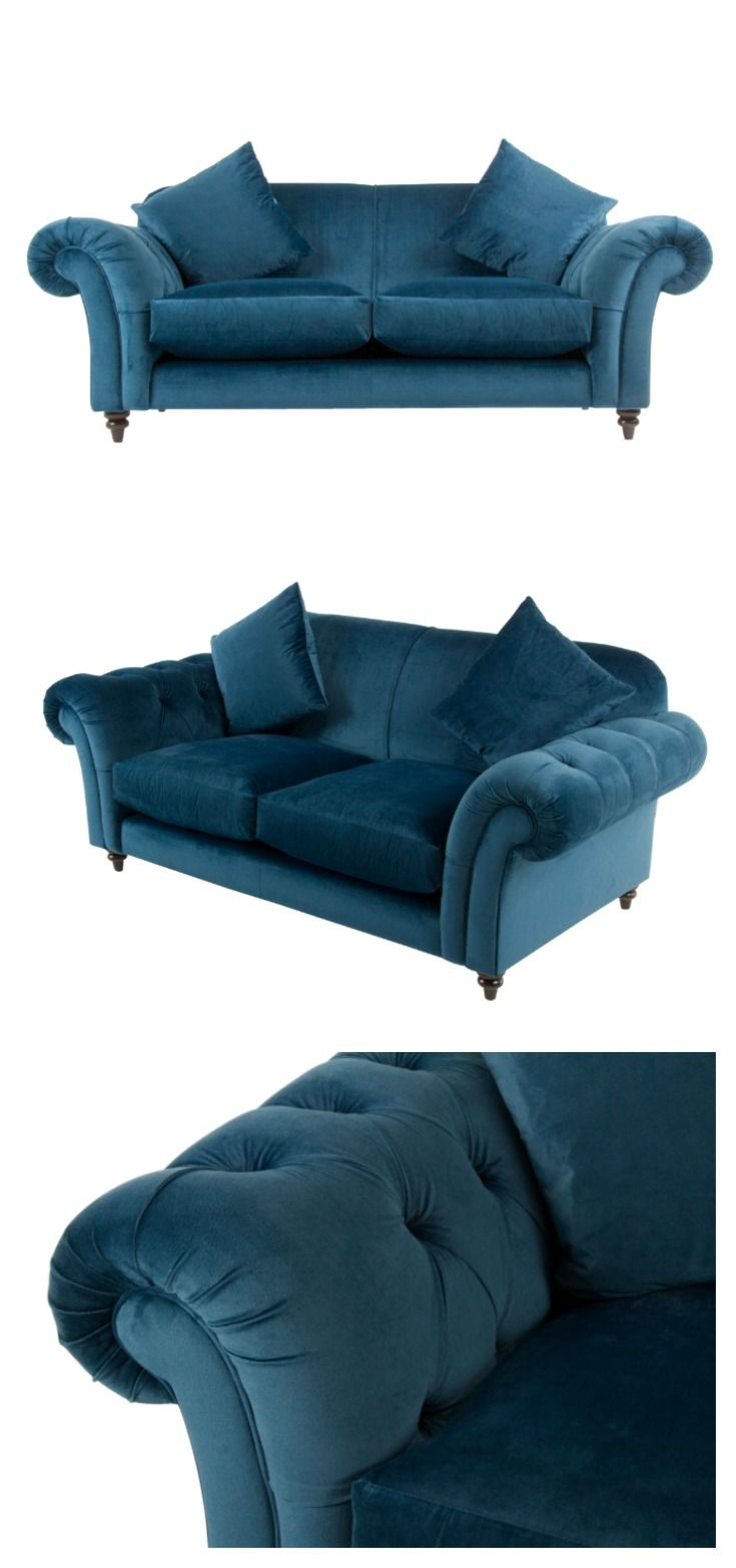 A Beautiful Velvet Sofa In Gorgeous Royal Blue Colourway