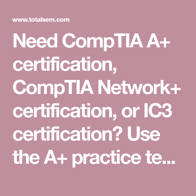 Pin On CompTIA