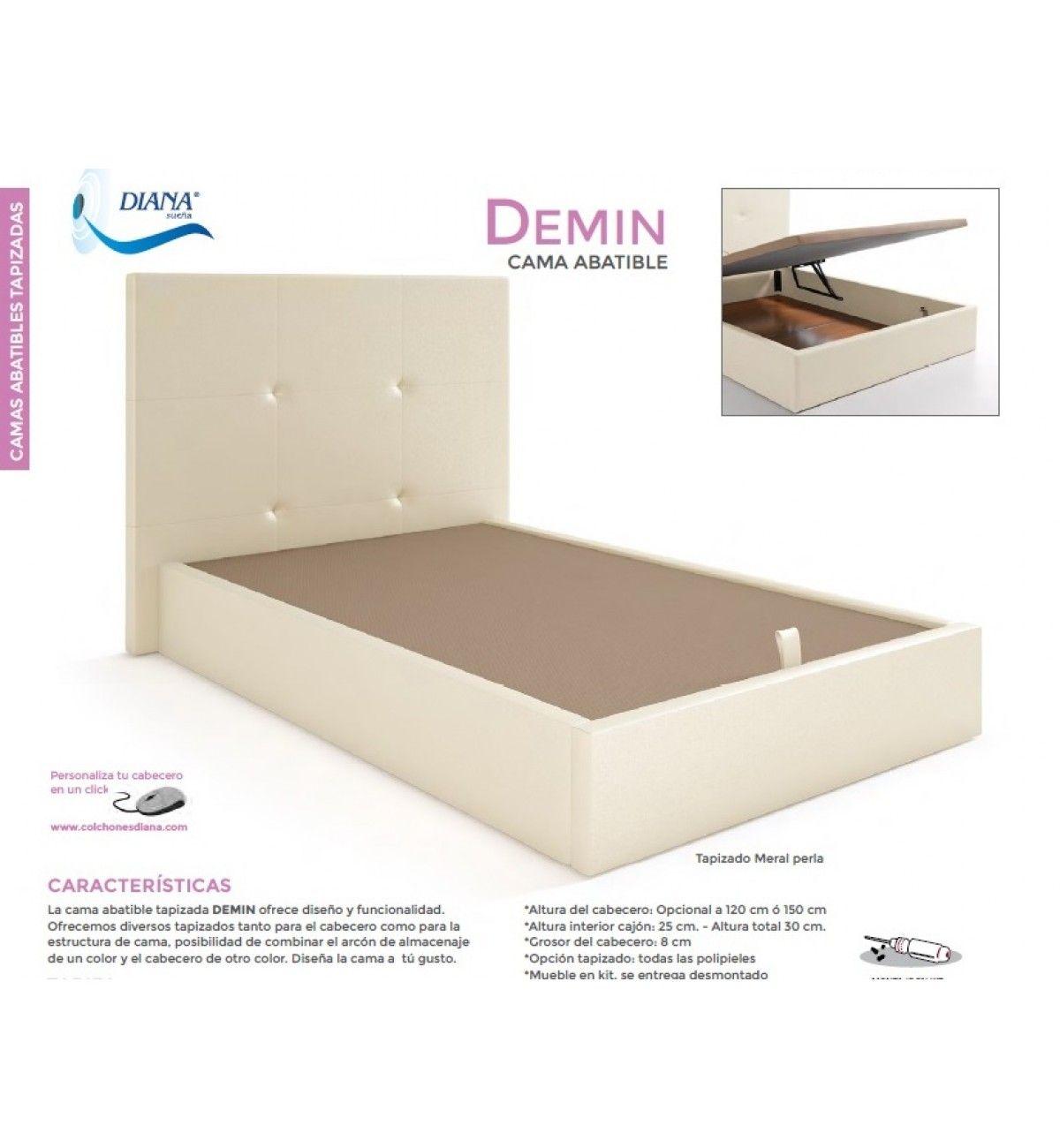 La cama abatible tapizada modelo DEMIN de DIANA SUEÑA le ofrece la ...