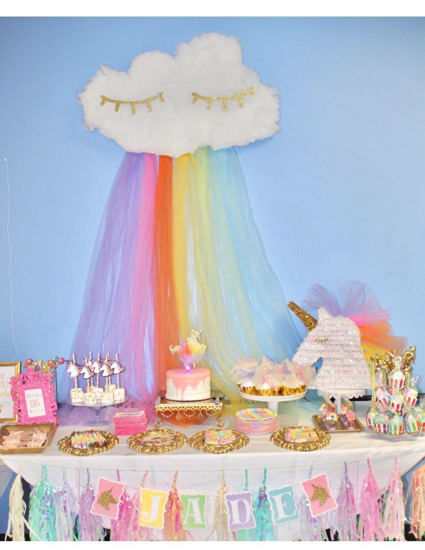 Unicorn Party Pastel Rainbow Party Unicorn Birthday