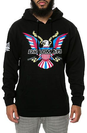 Diplomats Hoodie The Diplomats Eagle in Black    HOPSTER Fashion ... be4cf8c930