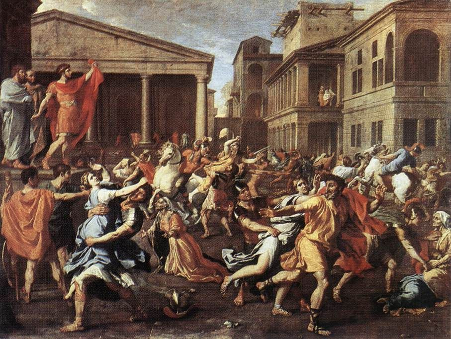 Http Enciclopedia Us Es Images 7 73 Poussin Rapesabinelouvre Jpg Nicolas Poussin Baroque Painting Louvre Museum