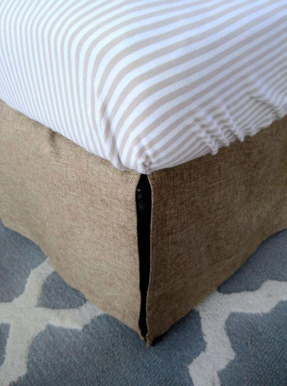 Custom Burlap Cal King Bed Skirt 72 X84 Pick Your Length