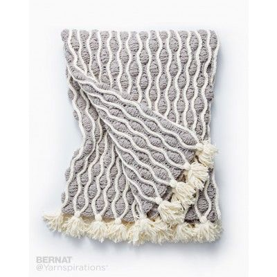Trellis & Tassels Knit Afghan | Crochet | Pinterest | Manta, Cobija ...