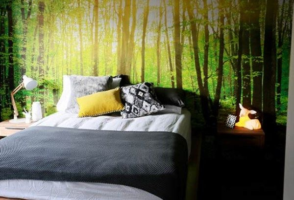 Forest Wallpaper used by Bec and George The Block. We love the ...
