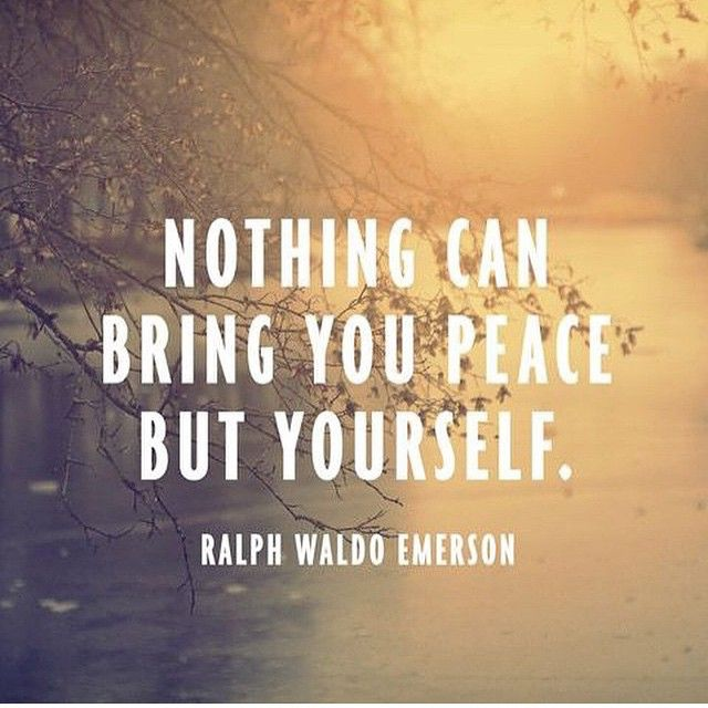 Merveilleux Ralph Waldo Emerson Quote   Nothing Can Bring You Peace