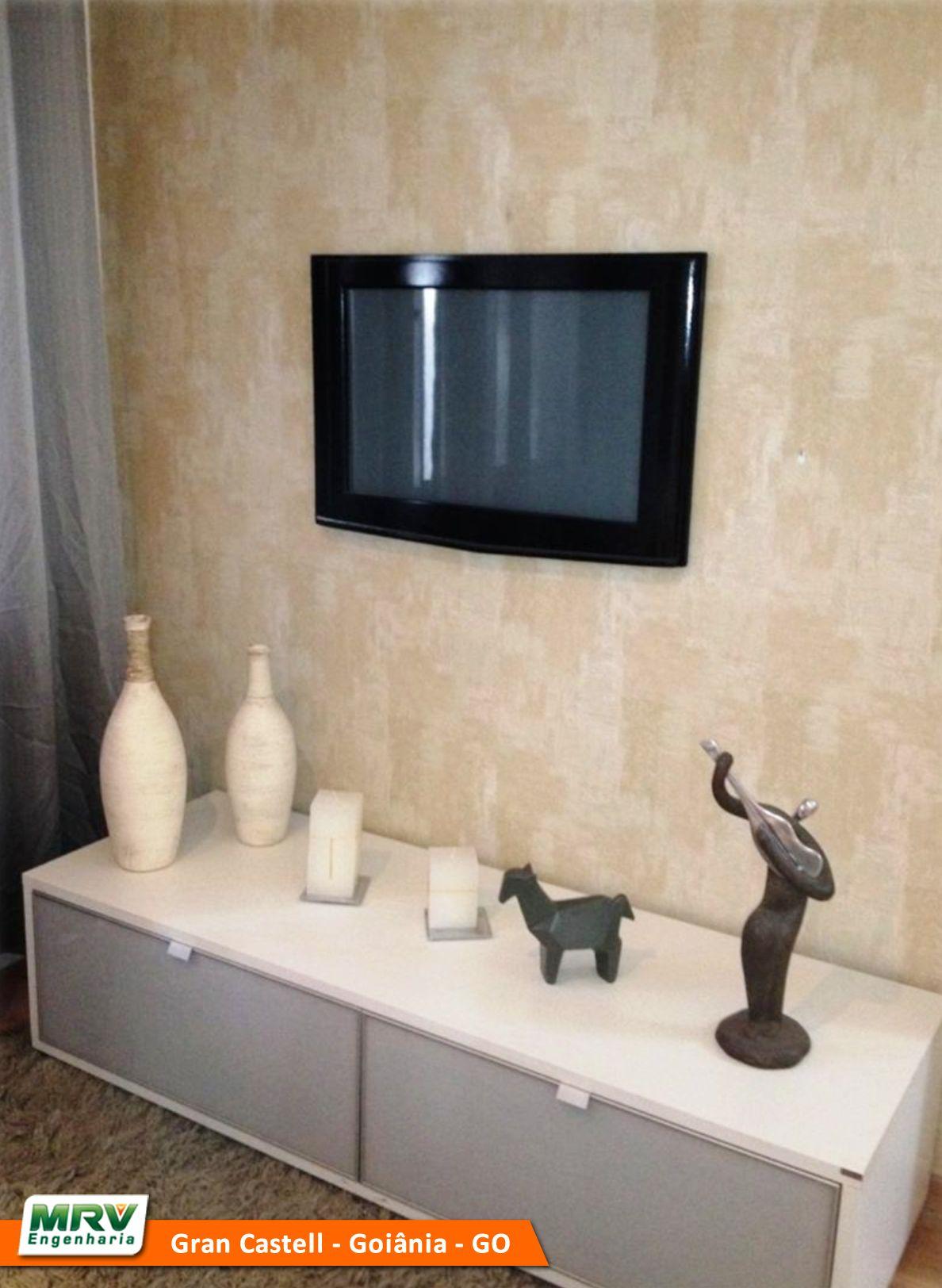 Apartamento Decorado 2 Quartos Do Gran Castell No Bairro Jardim Da  -> Papel De Parede Sala Mrv