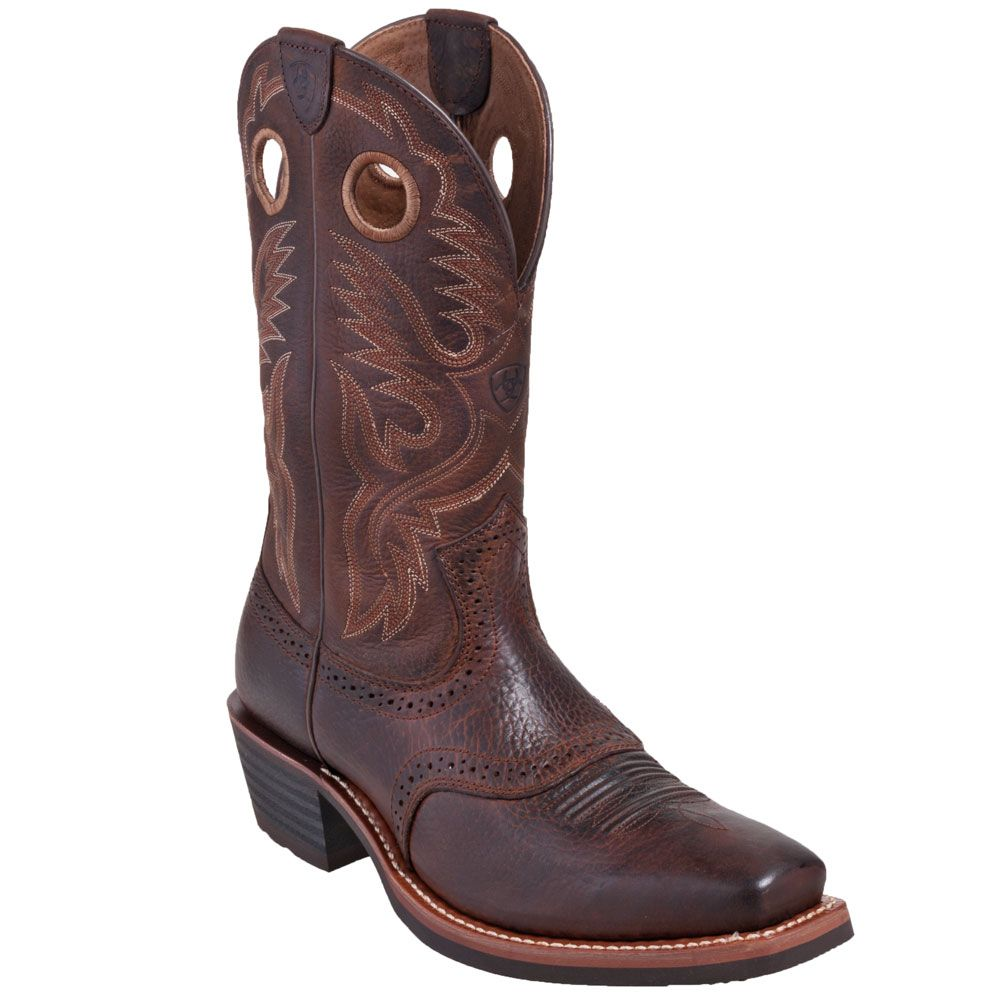 Ariat Boots: Men's 10002227 Brown Square Toe Heritage Cowboy Boots,    #Boots,    #10002227,    #Ariat