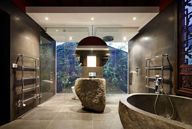Déco salle de bain zen \u2013 42 astuces pour ambiance Feng Shui Pinterest