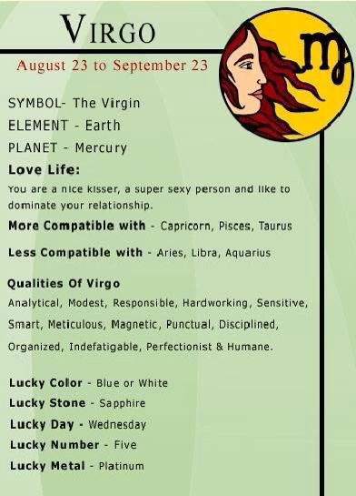 Virgo woman compatibility chart