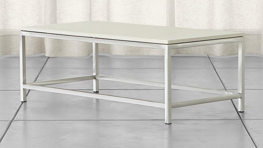 Era limestone rectangular coffee table reviews crate