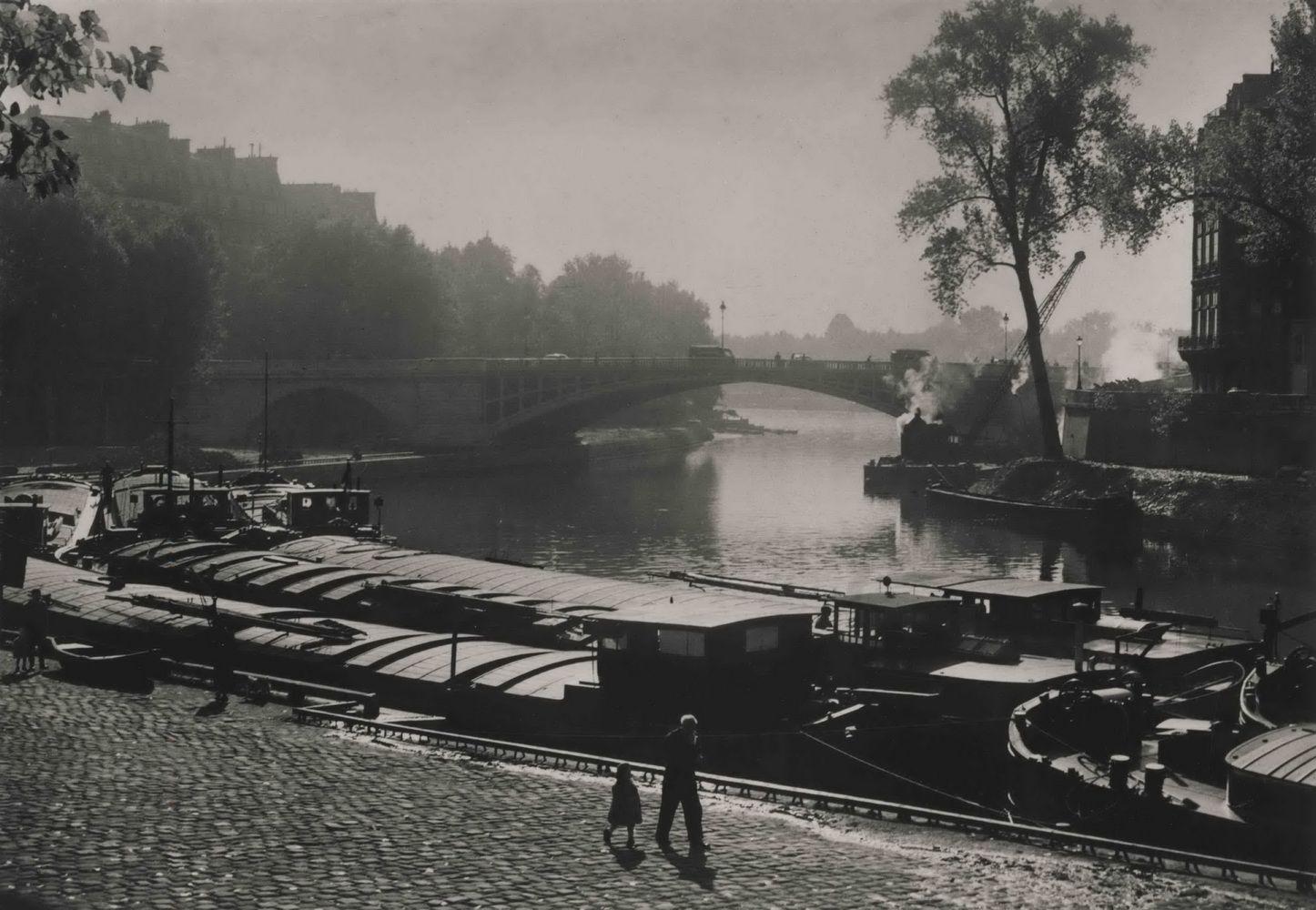 Edith GERIN (1910-1997) Le Pont Sully, 1955