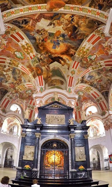Church Of The Black Madonna Einsiedeln Abbey The Iconic Benedictine Monastery With Black