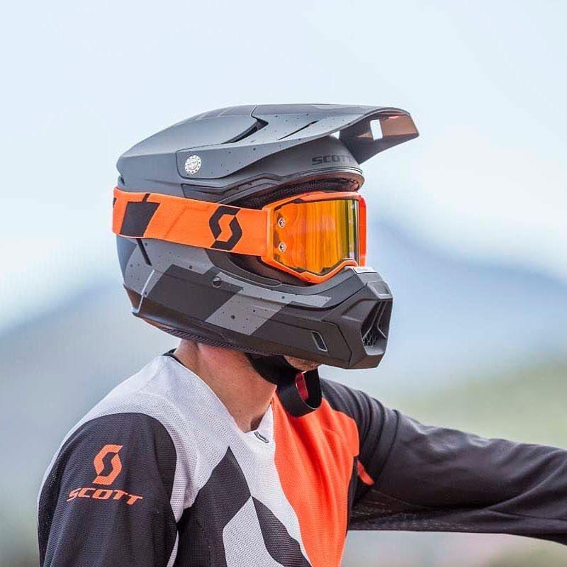 Scott Prospect Black Orange Orange Chrome Goggles Helm Kleidung