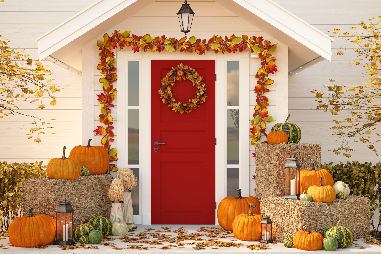 DIY Thanksgiving Door Garland Ideas (With images ...