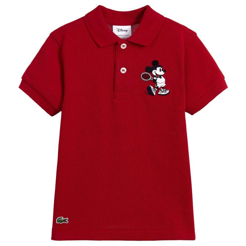 2e0031eb6 Lacoste - Boys Mickey Mouse Polo Shirt