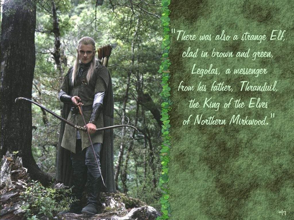 This is exactly the description of Legolas in The Lord Of ...