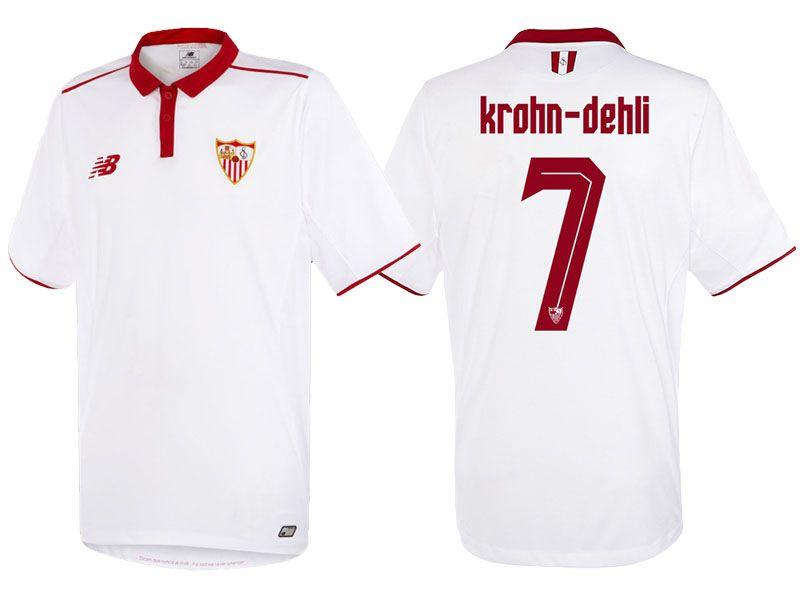 Sevilla 7 Michael Krohn Dehli 2016 17 Home Jersey Jersey Stuff To Buy Sports Jersey