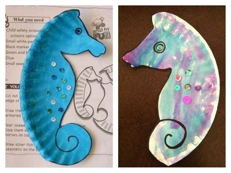 Paper Plate Seahorse Template Craft Idea Paper Plate Brownies