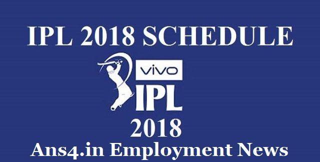 VIVO IPL Match Schedule 2018 has been revealed through