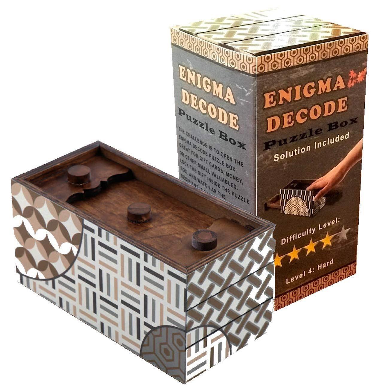 Enigma decode secret puzzle box with images puzzle box