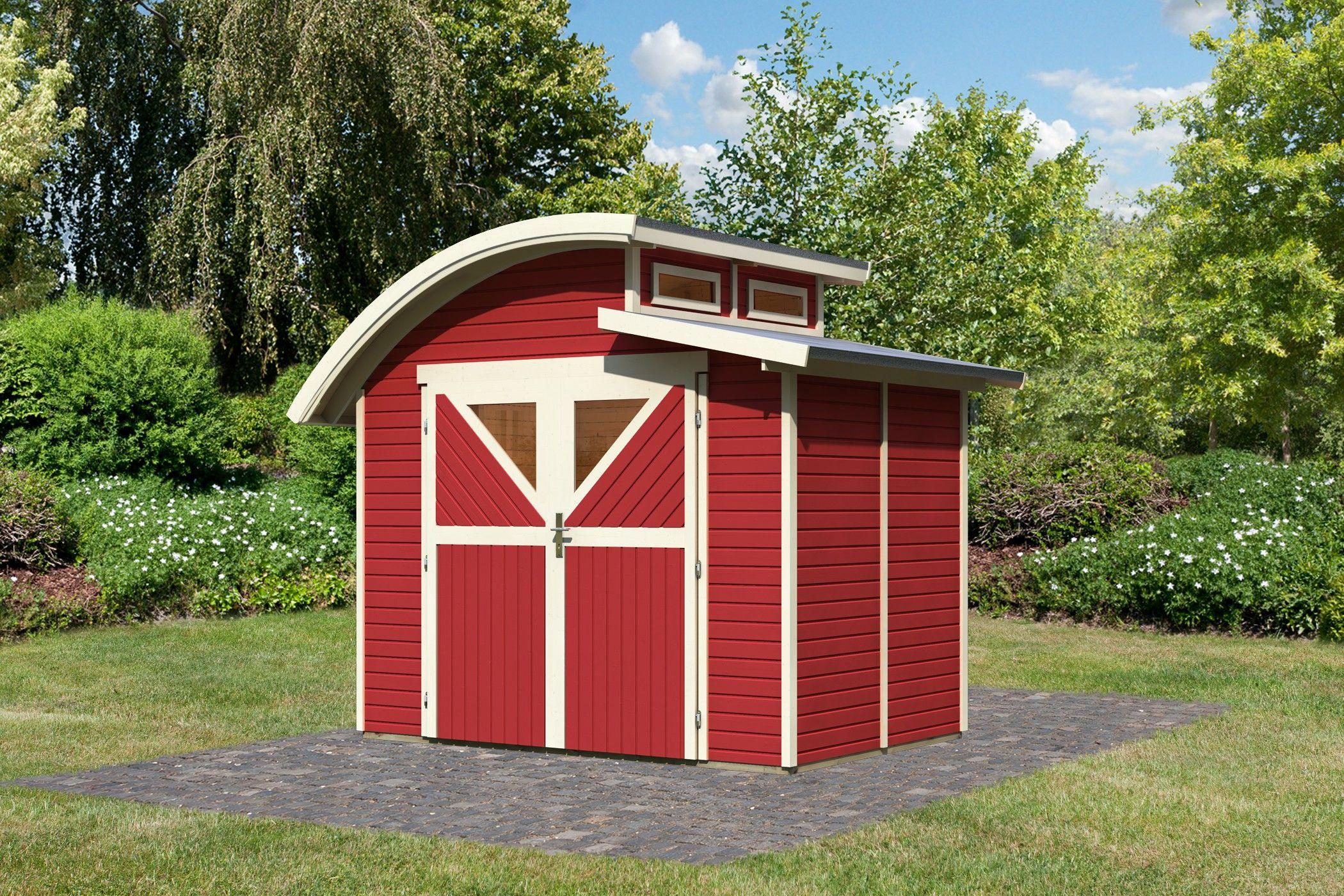 Chalet de jardin rouge m 19mm mellum 2 karibu prix 1730 contactez nous au - Baraque de jardin ...