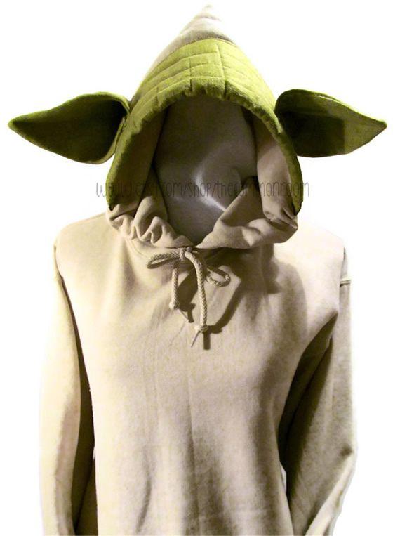 f2b7d4b80 Moletom com orelhas do Mestre Yoda te transforma em um verdadeiro Mestre  Jedi