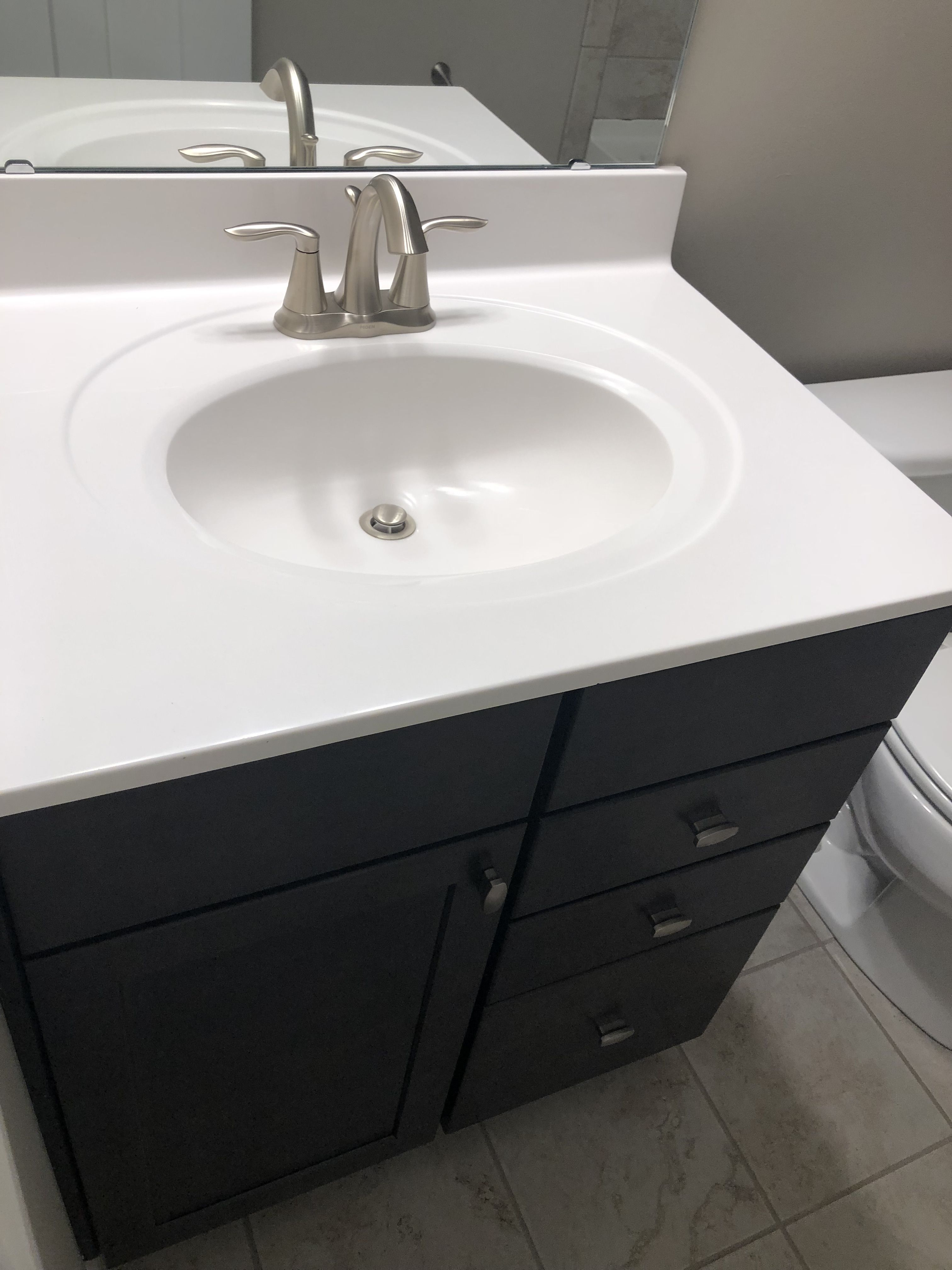 10 WHITE CULTURED MARBLE VANITY TOP Cultured marble
