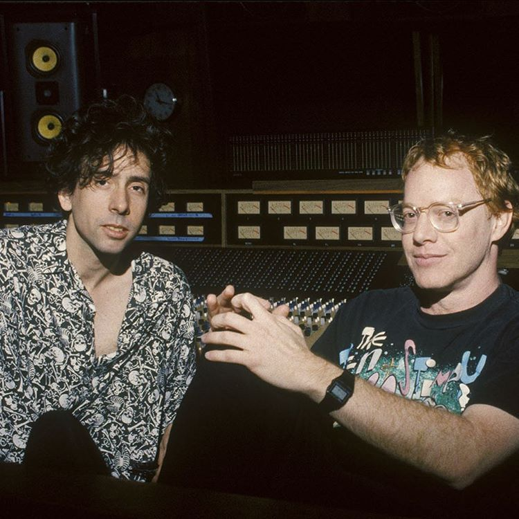 "Tim Burton and Danny Elfman during the production of ""A Nightmare Before Christmas"" (1993)"