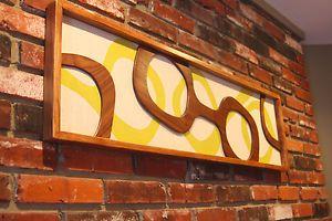Mid Century Modern Art | Details about Mid Century / Danish Modern TIKI WITCO Styled Wall Art