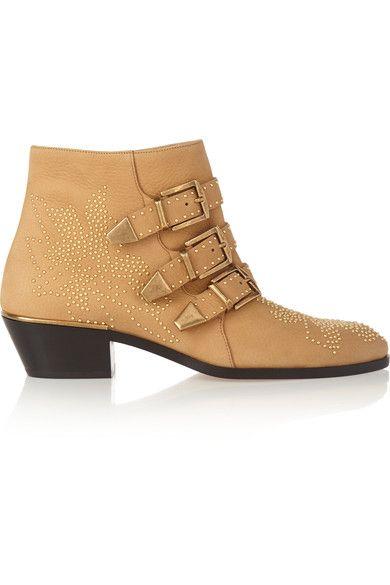 1265ac2e CHLOE Susanna studded textured-leather ankle boots // Always a ...