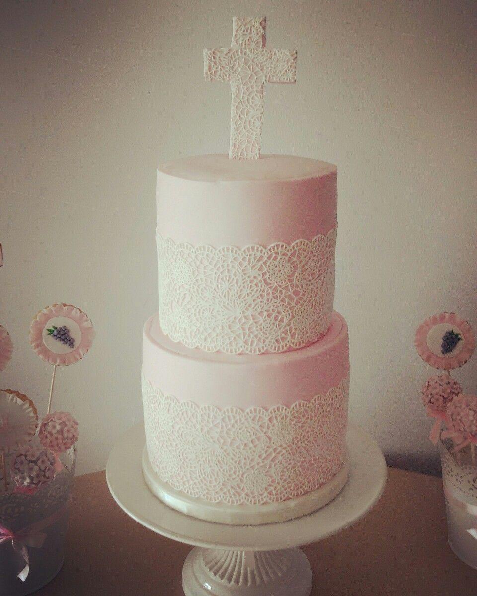 Communion Cake. Bolo de comunhão.