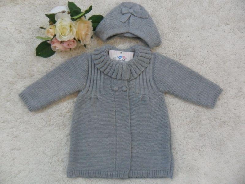 ABRIGO GRIS + CAPOTA | Pardalets - Ropa para tu bebe