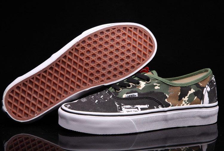 8610d8ffb7 Vans Star Wars Camo Green Skate Shoes  Vans