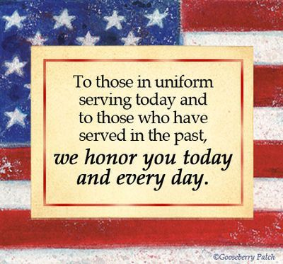 veterans daywe honor you today and every day