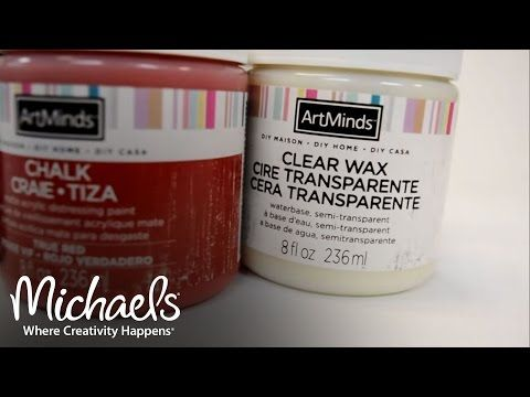 ArtMinds DIY Chalk Matte Acrylic Distressing Paint  Extras
