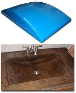 Concrete Countertop Rubber Sink Mold Sdp 37 Shallow Wave Concrete Countertops Concrete Decor Sink