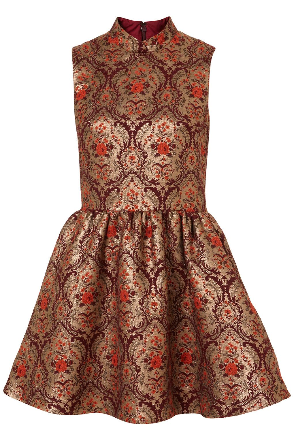 Topshop - Brocade Skater Dress: Perfection! The cut, fit, and the ...
