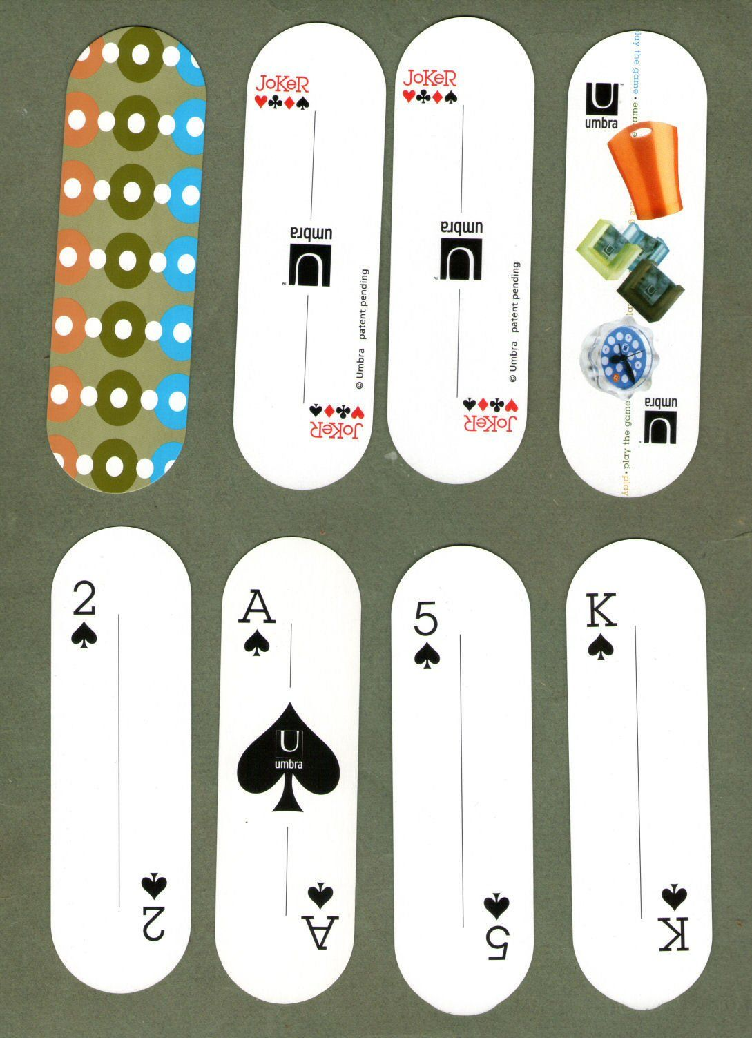 Japanese, non-standard playing cards. UMBRA. A very unusual ...