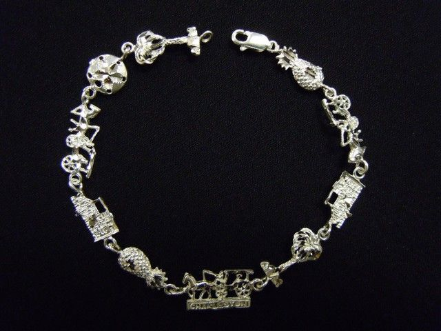 Charleston Bracelet Sterling Silver 8 109 99 This Gorgeous Features Many Icons Of The Lowcountry I
