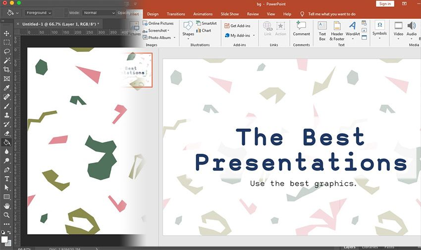 How To Make Powerpoint Slide Backgrounds In Photoshop Ppt Size Format Powerpoint Powerpoint Slide How To Use Powerpoint