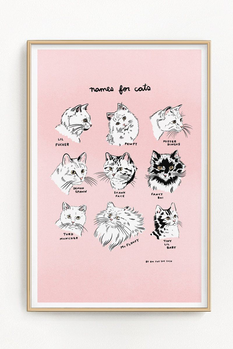 Names For Cats Riso Print 11 X 17 In 2020 Riso Print Risograph Print Risograph
