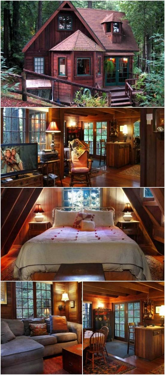 This Tiny Cabin In The Redwoods Is The Perfect Getaway For: Escape To Northern California In The Dreamcatcher Tiny Log