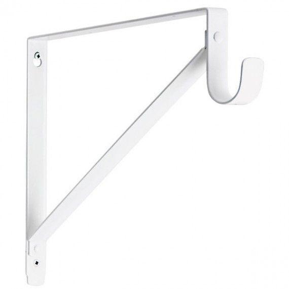 Lido Heavy Duty Closet Bracket White Finish Closet Hardware Bars For Home Closet Rod