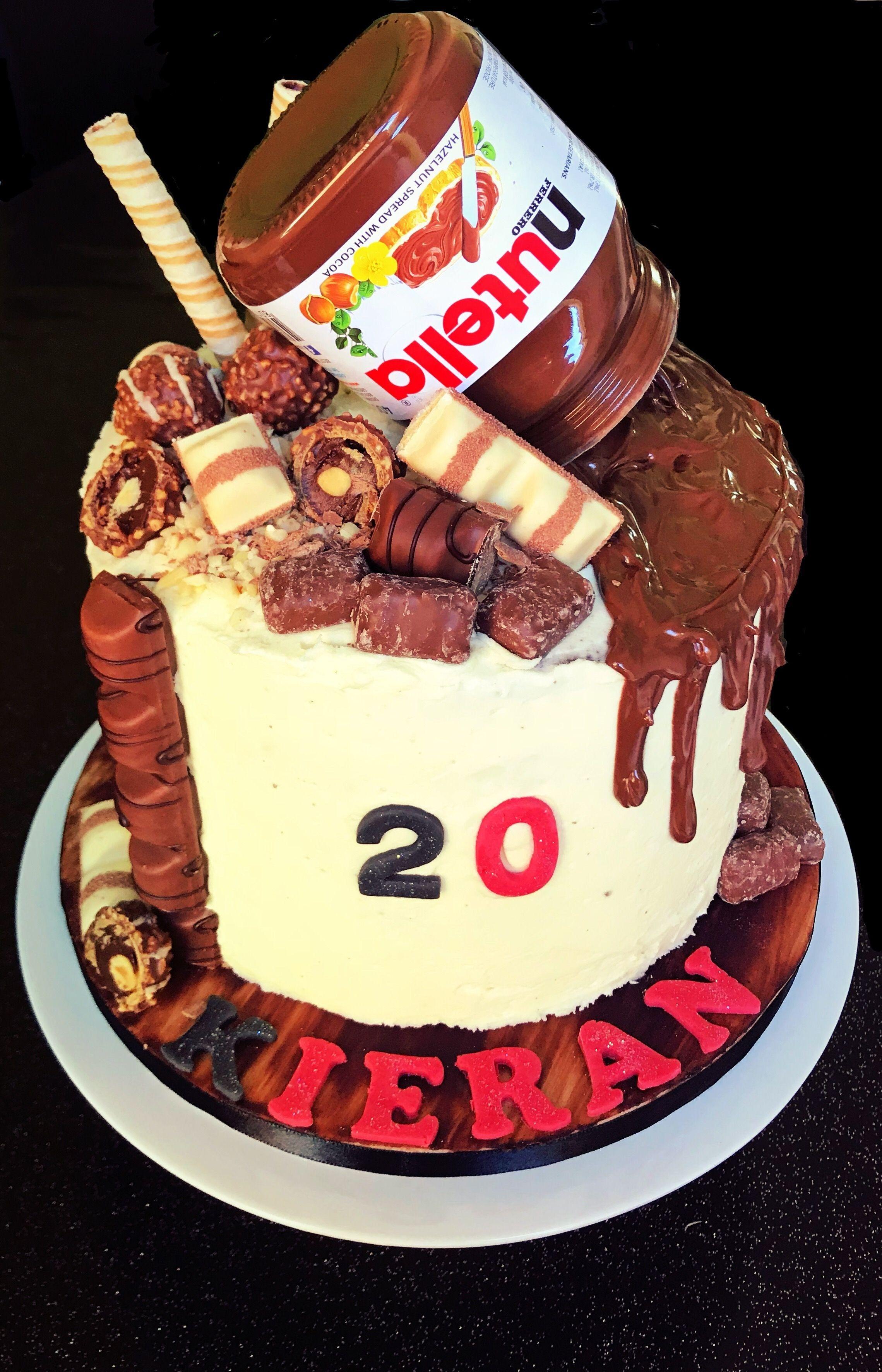 30 Pretty Photo Of Nutella Birthday Cake Nutella Birthday Cake Pin Elena Tsagrinou On Nutell Nutella Birthday Cake Birthday Cake Recipe Nutella Recipes Cake